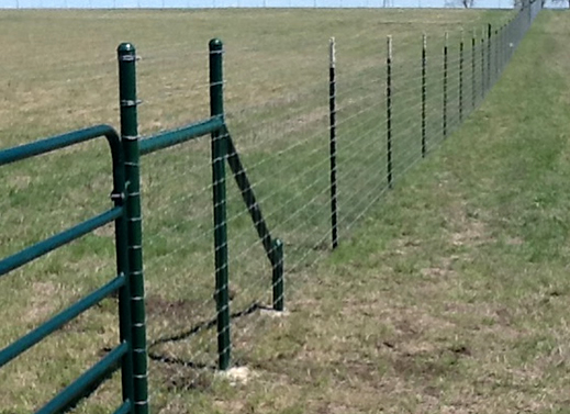 wire farm fence gate. pipe rail ranch gate, moseleyfence.com, barbed wire fence installation. www.moseleyfence.com farm gate o